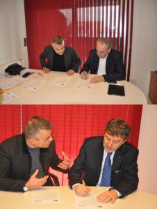 Giovanni Legnini e Marco Marsilio sottoscrivono l'impegno