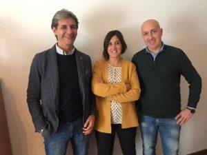 Luca Zarroli, Stefania Sorge e Orlando D'Angelo, componenti della Commissione lavoro autonomo