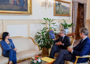 Raffaele Lorusso e Tommaso Daquanno con la ministra Fabiana Dadone